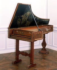 "Original Italian Harpsichord ""F.A. 1677"" (Collection Kenneth Gilbert, Chartres)"