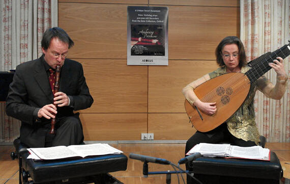 Launch concert, Peter Holtslag and Elizabeth Kenny performing