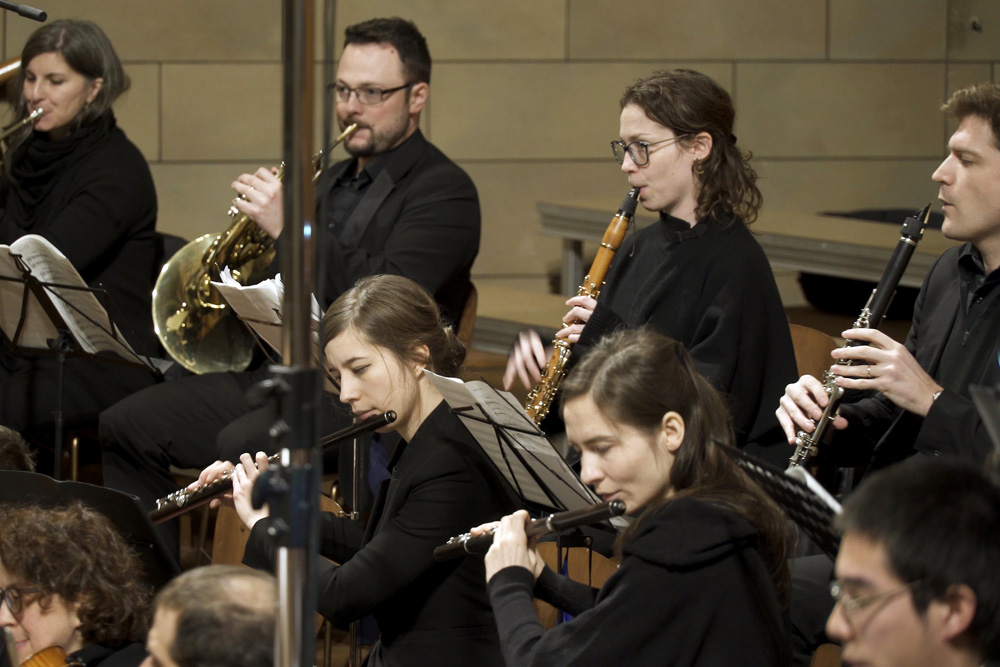 During a concert with Saint-Saëns 3rd Symphony