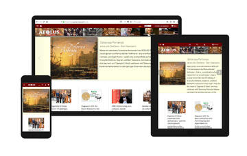 AEOLUS website on desktop, tablet, smartphone